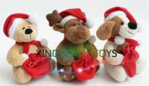 Plush Toys for Christmas, Plush Bear, Plush Dog, Plush Reindeer