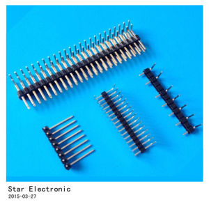 Factory Single Row 2.54mm Pin Headers pictures & photos