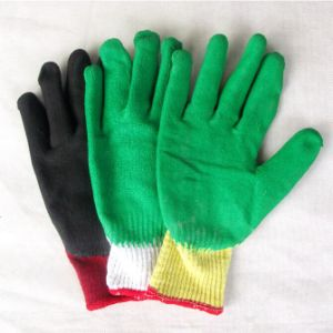 10g Polyester Shell with Latex Coated Work Gloves pictures & photos