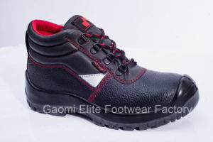 High Cut Black Embossed Buffalo Leather Safety Shoe Rocky-R2