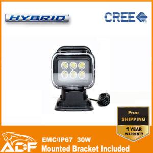 "New 7"" 30W 250m Wireless CREE LED Remote Control Search Light"