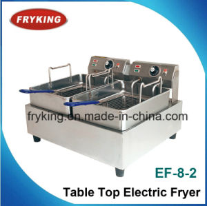 Electric Double-Tank Deep Fat Fryer for Kitchen pictures & photos