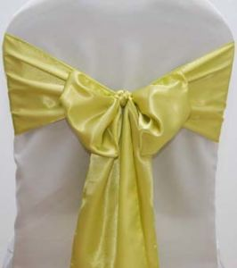 Satin Wedding Chair Covers and Sashes for Sale pictures & photos