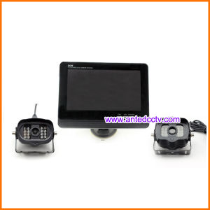2 Wireless Car Reversing Cameras and 7 Inch LCD Monitor Screen pictures & photos