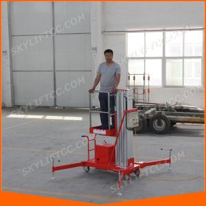 Indoor and Outdoor Aluminium Mast Man Lift pictures & photos