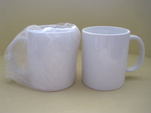 11oz All White Sublimation Mug pictures & photos