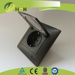 TUV Ce CB Certified Black Dust Cover Schuko Socket pictures & photos