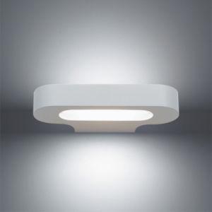 Small White or Chrome Die-Cast Aluminum Talo Parete Fluo Wall Mirror Lamp