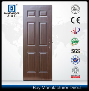 The Classic and Most Economic 6 Panel Steel Front Entry Exterior Door Slab pictures & photos