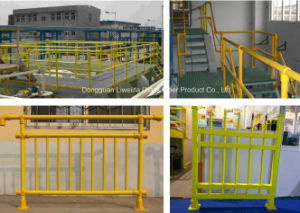 Chemical Resistant Customized Fiberglass FRP Composite Fence, FRP Handrail