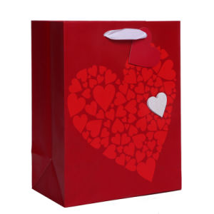 Big Heart Always Love You Valentine Paper Bags pictures & photos