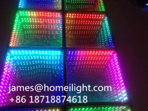 8PCS RGB Full Color Control LED Stage Light Infinity Mirror 3D LED Dance Floor pictures & photos