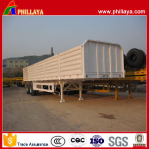 Tandem Bogie Axle Double Axles Side Wall Semi Trailer pictures & photos