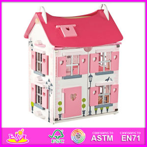2014 Fashion New Kids Wooden Toy Doll House, Luxury Large Wooden Children Toy Doll House, Hot Sale Baby Wooden Toy Doll House Set Factory W06A051 pictures & photos