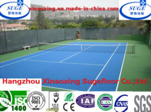 with Rohs, DIN Standard Waterproof Portable Tennis Court Flooring Tennis Floors pictures & photos