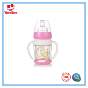 150ml Wide Neck Explosion-Proof Glass Baby Bottle with Double Deck pictures & photos