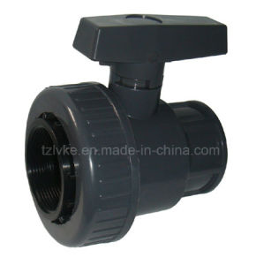 PVC Single Union Ball Valve F*F- (BSPT, NPT) pictures & photos