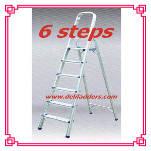 Aluminium 6 Step Ladder /Household Metal Ladder pictures & photos