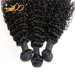 Jerry Curl 8A High Quality Human Hair Weaving Cambodian Virgin Hair Weft pictures & photos