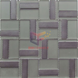 Matt Face Glass Mix Grey Aluminium Mosaic (CFA100) pictures & photos
