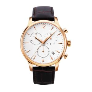 Mens Quartz Watch Ss Case Calf Leather pictures & photos