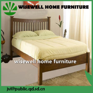 Solid Pine Wood Double Bed Room Furniture (WJZ-B108) pictures & photos