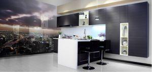 Beige Melamine Wooden Kitchen Cabinet (zs-027) pictures & photos