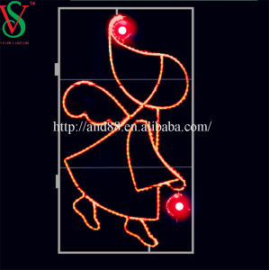 LED Light Christmas Angel 2D Frame Motif Decoration Lighting pictures & photos