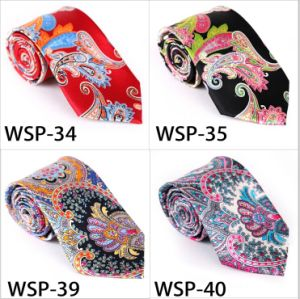 Fashionable 100% Silk /Polyester Printed Tie Wsp-34 pictures & photos