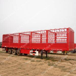 3 Alxe Sinotruk Stake/Fence Semi-Trailer pictures & photos
