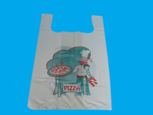 HDPE White Plastic Pizza Bag