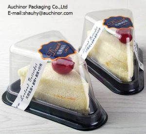 Recyclable Blister Plastic Packaging Triangle Cake Box pictures & photos