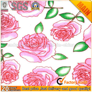 Rose Flower Design Printed Nonwoven Fabric pictures & photos