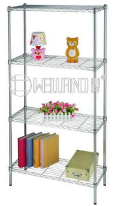 Chrome Modern Metal Wire Shelving Rack for Home (LD9035180A4C) pictures & photos