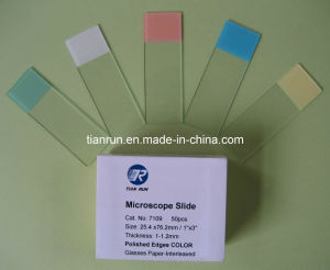 Microscope Slide, Colour Frosted, Ground Edges (7109) pictures & photos