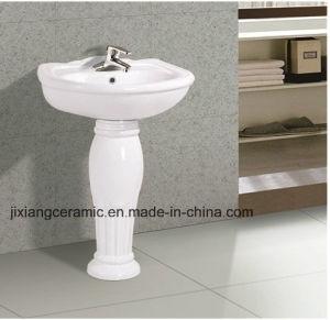 2017 Popular Types Toilet Hand Wash Basins Pedestal Washbasin pictures & photos