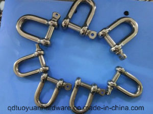 European Type Large Stainless Steel Rigging 304 Grade Bow Shackle pictures & photos