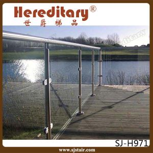 Tempered Glass Balcony Railing Stainless Steel / Glass Deck Railing (SJ-S348) pictures & photos