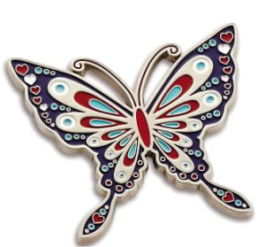 Customized Zinc Alloy Butterfly Fridge Magnet for Souvenir pictures & photos