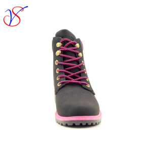 2016 New Style Man Women Work Boots Shoes for Job with Quick Release (SVWK-1609-032 BLK) pictures & photos