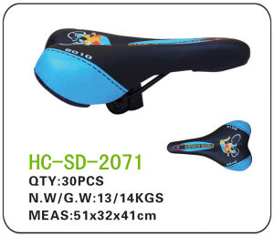 Blue and Black Leather MTB Saddle (SD-2071) pictures & photos