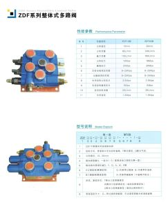 Hydraulic Monoblock 2 Spools Control Industrial Valves Types Safety Components pictures & photos