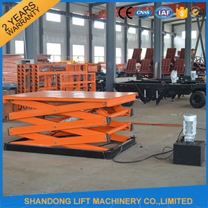Ce Hydraulic Stationary Scissor Cargo Lift Table pictures & photos