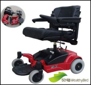 CE Electric Wheelchair for Disabled T408A-Red pictures & photos