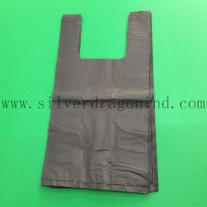 Biobased or Biodegradable Grocery Store Plastic T-Shirt Bag with Printing pictures & photos