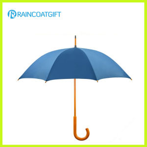 Wooden Curve Handle Straight Golf Umbrella pictures & photos