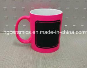 New Chalk Mug, Hot Chalk Mug, Neon Color Mug with Chalk Decal pictures & photos