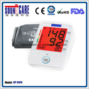 Colorful Backlit Household Arm Blood Pressure Monitor (BP 80FH) pictures & photos