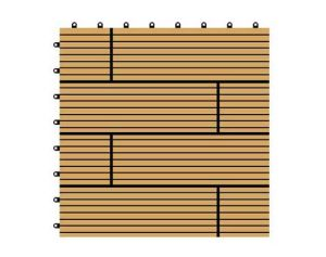 300*300*22mm China Factory Hot Sale Wood Plastic Composite DIY Flooring, Price WPC DIY Decking pictures & photos