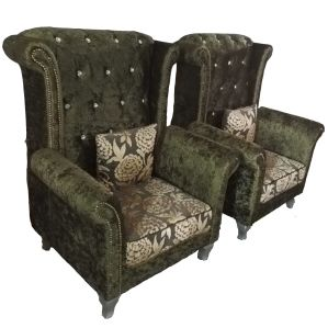 Hotel and Indoor Furniture Fabric Tiger Chair (2098#) pictures & photos